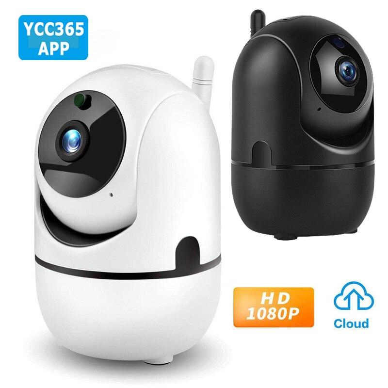 YCC365 1080P Cloud HD IP Camera WiFi Auto Tracking Camera Baby Monitor Night Vision Security Camera Home Surveillance Camera