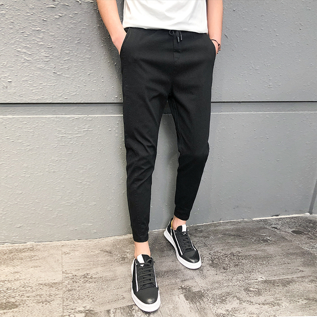 Pantalones Hombre Fashion 2020 New Spring Streetwear Joggers Men Slim Fit All Match Solid Casual Pants Men Drawstring Trousers 1