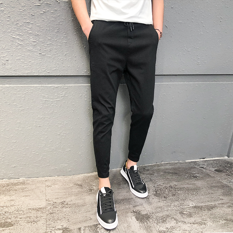 Pantalones Hombre Fashion 2020 New Spring Streetwear Joggers Men Slim Fit All Match Solid Casual Pants Men Drawstring Trousers