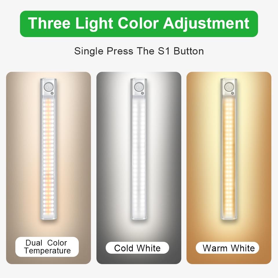 Goodland Closet Light 160 LED Lights PIR Motion Sensor Light Cupboard Wardrobe Night Lamp For Kitchen Bedroom Cabinet Backlight 2