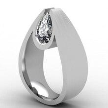 Anillo de piedra de circón con forma de corazón bonito de Modyle, joyería de plata para bodas, anillos de compromiso para mujeres, regalo del Día de San Valentín 2020