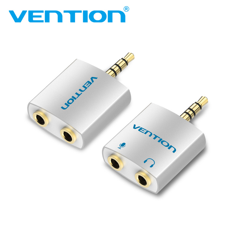 Vention 3.5mm Earphone Audio Splitter Connecter Adapter with mic 1 Male to 2 Female Audio Adapter For Headphone PC Mobile Phone