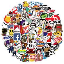 10 30 50PCS Coole Marke Logo Aufkleber Wasserdicht Skateboard Auto Gitarre Motorrad Gepäck Koffer Graffiti DIY Aufkleber kid Spielzeug cheap 魅隆 CN (Herkunft) MATERNITY 7-12m 13-24m 25-36m 4-6y 7-12y 12 + y Waterproof KS111 Brand Logo