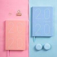 Korean Macaron Agenda 2019 2020 Planner Organizer Kawaii Hardcover Girls Diary Notebook Journal Thicken 2020 Schedule Notepad