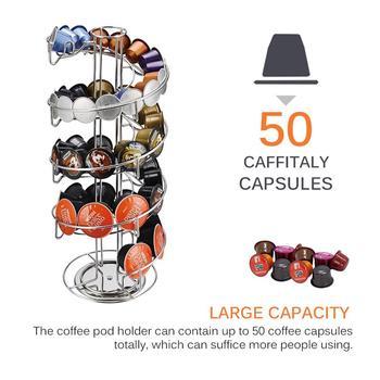 Stojak na stojaki obrotowe kapsułki do ekspresu do kawy stojak na wieżę obrotowe kapsułki do ekspresu do kawy s regały magazynowe do Dolce Gusto Nespresso k-cup kapsułka z kawą tanie i dobre opinie Metal Trzy częściowy zestaw