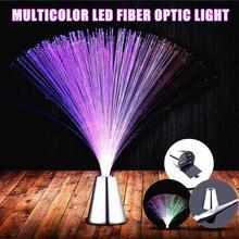Claite многоцветный светодиодный светильник из оптического волокна, Ночной светильник для украшения интерьера, детский праздничный свадебный светильник