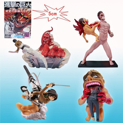 4 Pcs / set Attack on Titan Figure Rival Ackerman Package Ver. Levi PVC Action Figure Rivaille Model Collection Toy Gifts