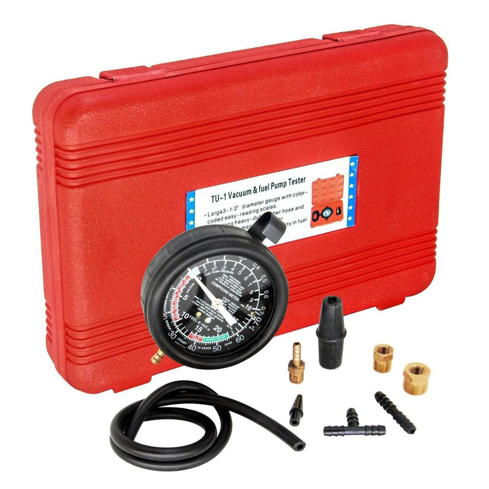 Mr Cartool HFS  R  Carburetor Carb Valve Fuel Pump Pressure  amp  Vacuum Tester Gauge Test Kit
