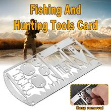 22-in-1 Fishing Equipment Hook Card Outdoor EDC Tool Camping Supplies Multifunctional Survival