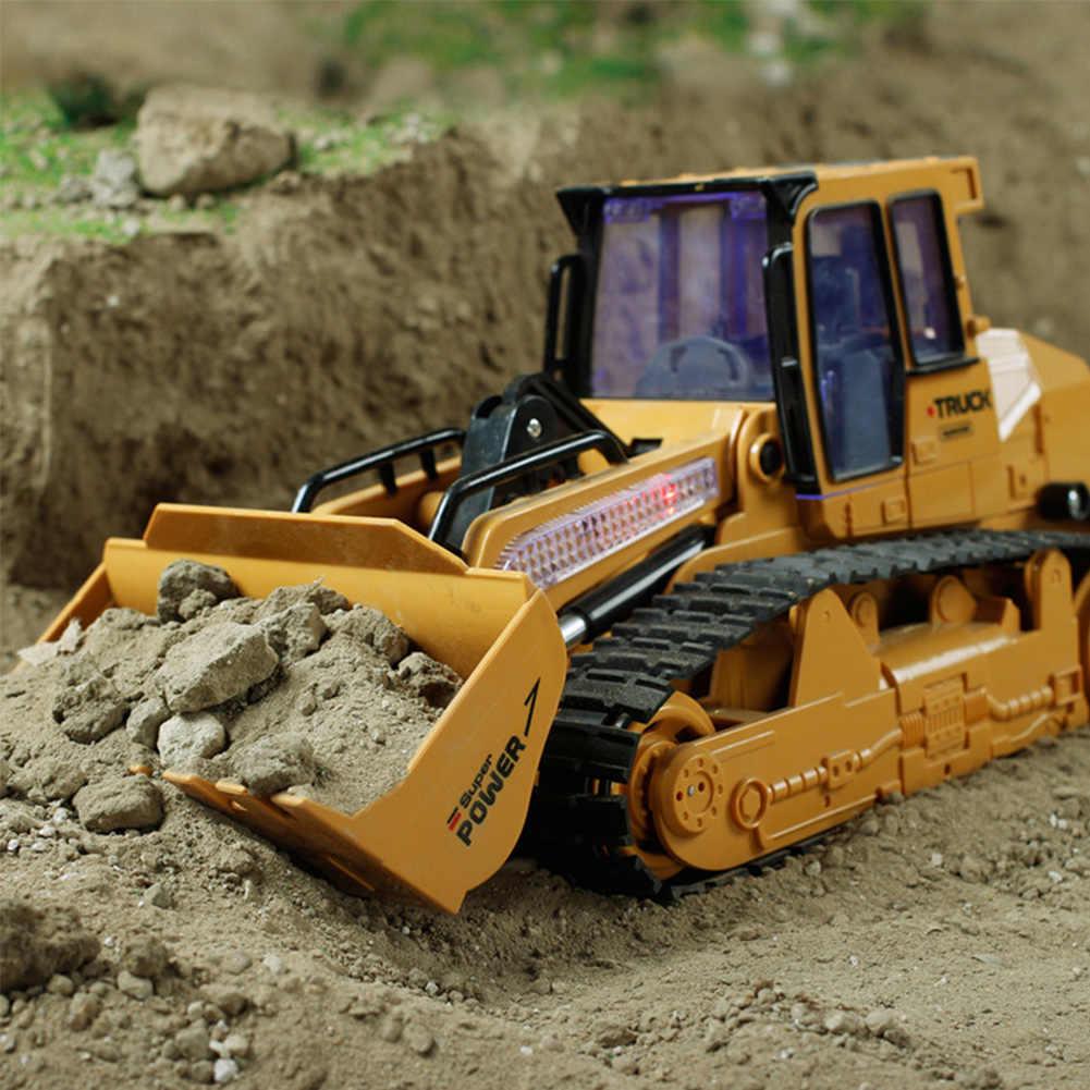Camión RC juguete simulación niños modelo regalos remoto Bulldozer carga ingeniería coches de construcción vehículo