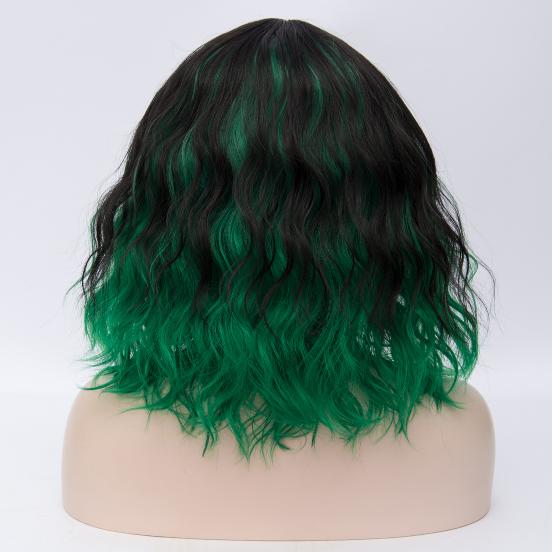 H14dbc71b702748b9a2a7dfa321defc9ea - Similler Short Synthetic Wig for Women Cosplay Curly Hair Heat Resistance Ombre Color Blue Purple Pink Green Orange Two Tones
