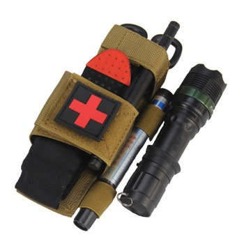 Hanging Bag Scissors Cover Outdoor First Aid Quick Slow Release Buckle Medical Military Tactical Emergency Tourniquet Strap Bag 2