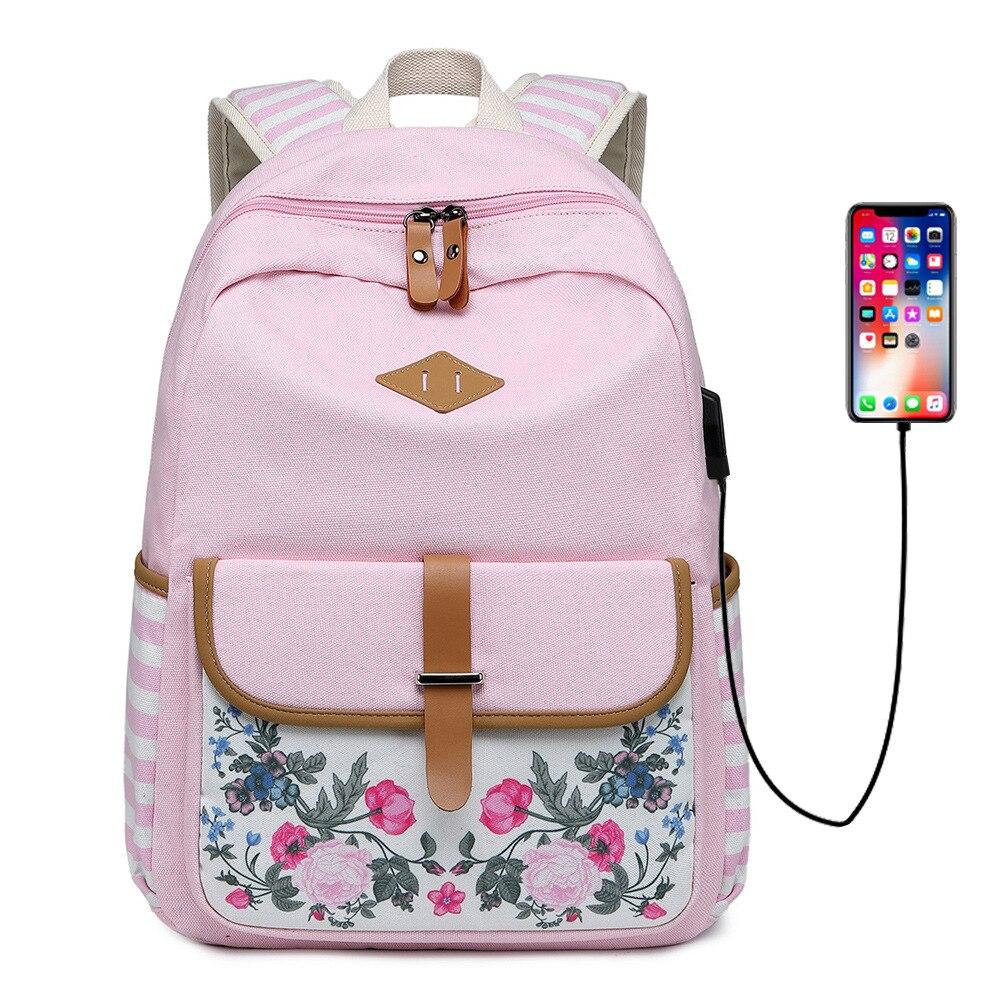 2019 neue leinwand rucksack große kapazität retro druck mittleren schule student tasche kreuz grenze freizeit computer rucksack - 6