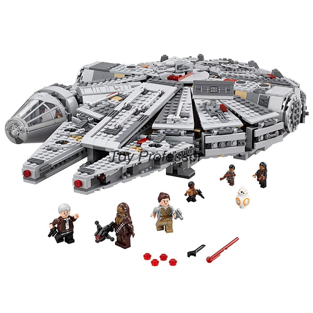 In stock 1381 Pcs Compatible Legoinglys Star Wars Millennium 05007 Falcon Spacecraft Building Blocks Birthday Gift Toys 3