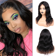 Human-Hair Wigs Closure Lace Natural-Wave Glueless Wignee Black-Women Brazilian Middle-Part