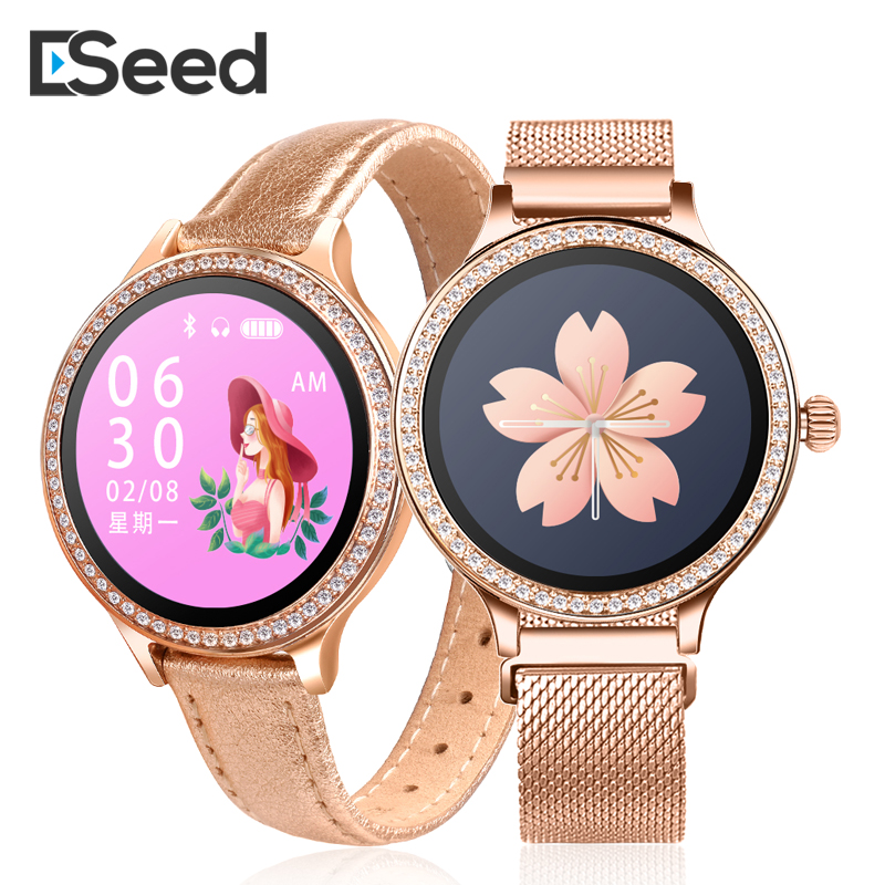 ESEED M8 Frauen <font><b>smart</b></font> <font><b>watch</b></font> <font><b>IP68</b></font> Wasserdichte Dame <font><b>Smart</b></font> Band Heart Rate Monitor Fitness Tracker Armband smartwatch android ios image