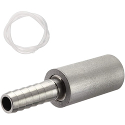 0.5 Micrometre Diffusion Stone metal napowietrzanie kamień Carbonating Stone z 1/4 Cal Barb + 20 Cal wąż silikonowy do Homebrew Win w Warzenie piwa od Dom i ogród na