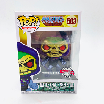 Funko Pop MASTERS OF THE UNIVERSE BATTLE ARMOR SKELETOR #563 Vinyl Action Figure Dolls Toys 2