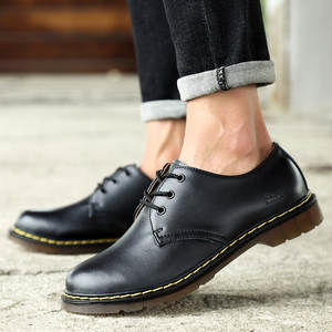 Men Shoes Waterproof Oxfords Non-Slip Winter Fashion Business Autumn Lace-Up Big-Size