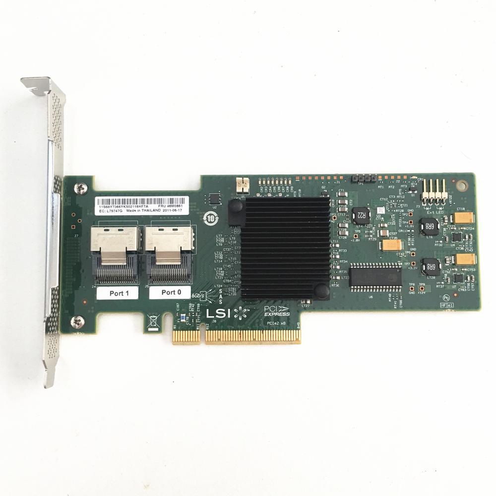 Used Original IBM ServeRaid M1015 46M0861 SAS/SATA PCI-e RAID Controller = LSI SAS9220-8i