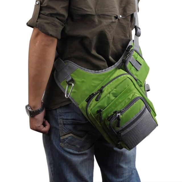 Fishing Tackle Bag Sling Pack Fishing Bags cb5feb1b7314637725a2e7: Black Green Orange