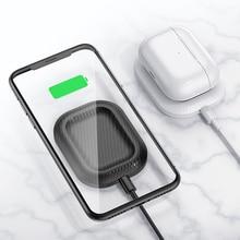 Беспроводное зарядное устройство для Bluetooth наушников, зарядная станция 1,5 часов, Быстрая Зарядка QI