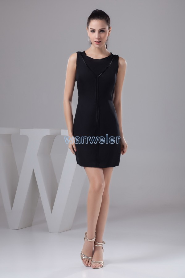 Free Shipping 2016 New Design Hot Sale Cap Sleeve Black Knee-Length Real Photo Custom Size/color Sexy Real Photo Cocktail Dress