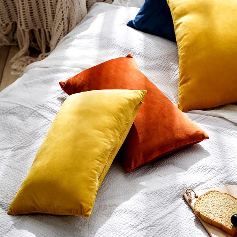 Super Soft Cushion Cover Velvet Pillow Cover For Sofa Living Room Housse De Coussin 30x50cm Decorative Pillows Nordic Decoration