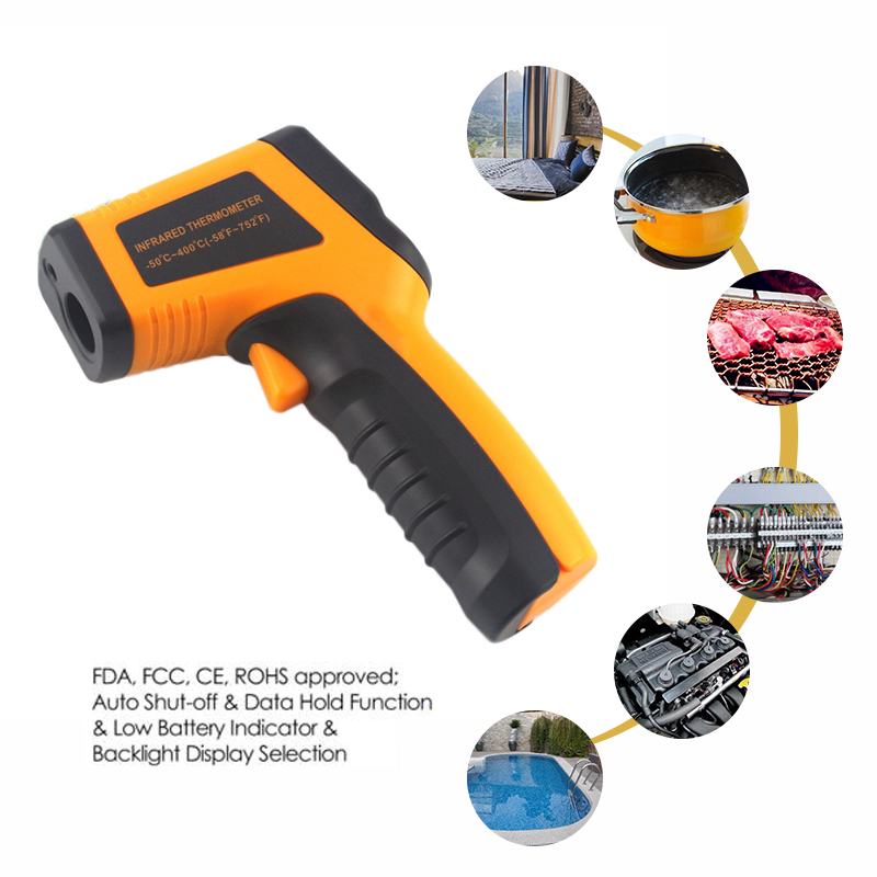 Image 5 - Infrared Thermometer Laser Pyrometer 400C 750C 950C Non contact  LCD IR Thermometer Gun Point Temperature Meter Backlightlaser  pyrometertemperature meterthermometer laser -