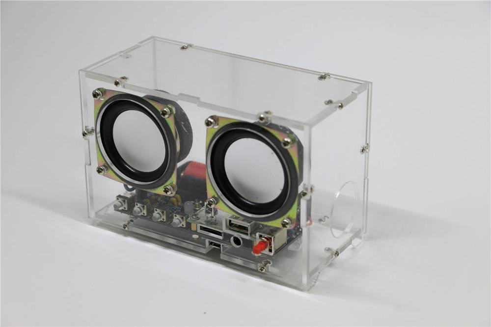 Bluetooth Speaker,  Electronic DIY Kit,  Rechargeable With Remote Control , Spectrum Display, MP3