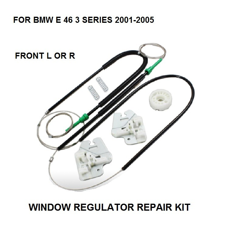 front right BMW E46 window regulator repair kit