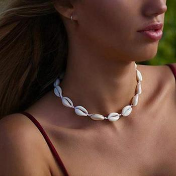 Women Cowrie Shell Beaded Hand Woven Choker Necklace Hawaiian Beach Jewelry New image
