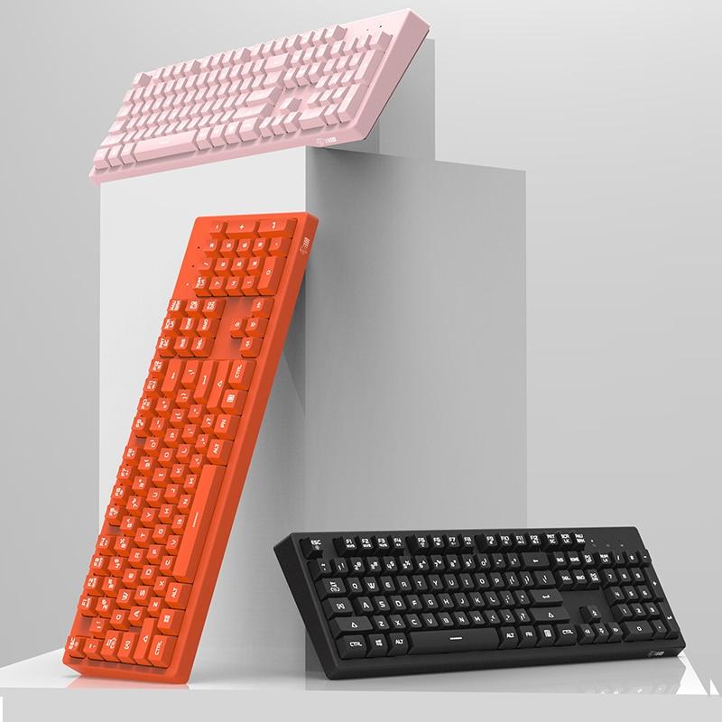 [NEW]  Wire Keyboard 104 Keys Ergonomic Design, Floating Keys Design Fashion Keboards For  Computer/Laptop PC Gaming /office