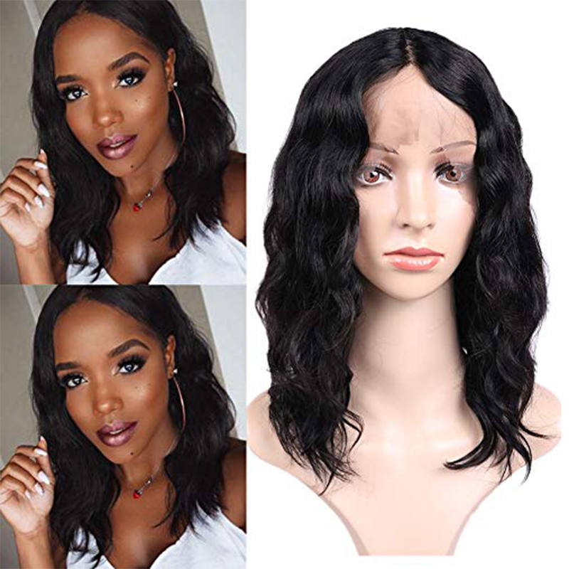 Wignee Deep Wave Lace Part Human Hair Wigs For Black Women Pre Plucked Natural Hairline Glueless Short Remy Brazilian Human Wig