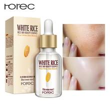 Suero blanqueador de arroz blanco HOREC, crema hidratante para la cara, antiarrugas, antiarrugas, tratamiento de líneas finas para el acné, cuidado de la piel, 15ml