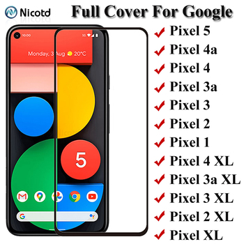 Full Cover Tempered Glass For Google Pixel 5 4 3 2 1 Pixel 4a 3a Screen Protector For Google Pixel 4 XL 3a XL 2 XL XL Glass Film 1
