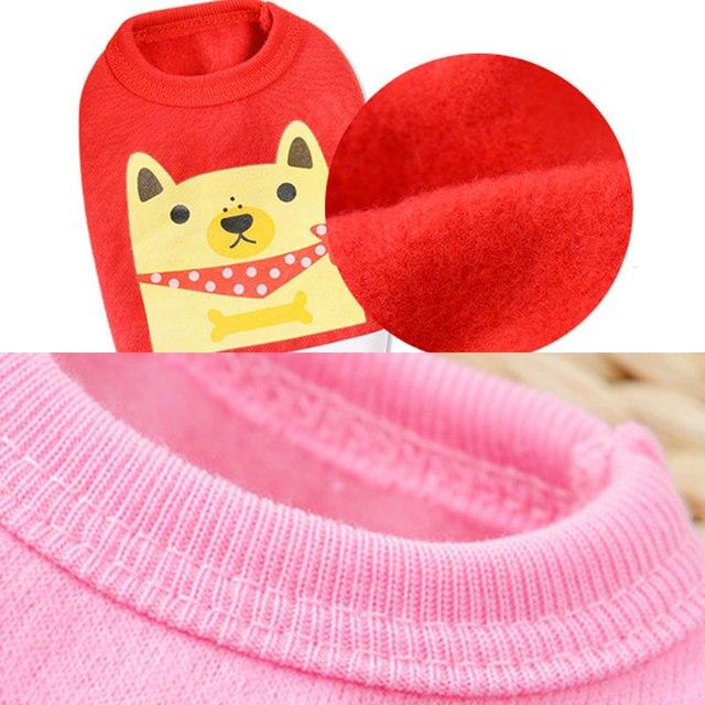 Gilet pour chiot chien de dessin animé   Vêtements chauds pour chiens Chihuahua, bouledogue français, manteau dhiver pour petits chiens, vêtements pour animaux chat