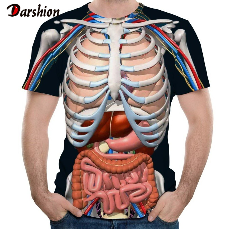 3D Heart Pattern T Shirt Men Fashion Harajuku O-Neck Short Sleeve Casual Tops Tees Cool Galaxy Hip Hop Tees Fashion Punk T Shirt