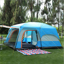 Tent 8-12 Person outdoor New big space camping outing two bedroom tent ultra-large hight quality waterproof camping tent(China)