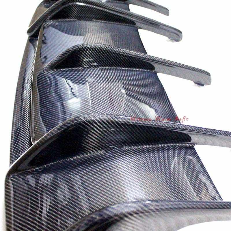 Untuk W218 CLS63 Spoiler Diffuser Carbon Fiber FRP Bumper Belakang Bibir Diffuser untuk Benz CLS Kelas CLS63 CLS350 12-lebih Tinggi