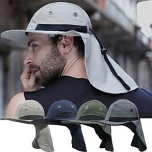 Boonie Mens לגיונר שולי כובע צוואר כיסוי שמש UV הגנת דש כובע דיג קיץ גן חיצוני