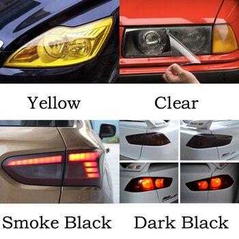 30cm 60cm x 60cm / 120 cm coche película de niebla de humo luz faro tinte película de vinilo 12 Color película para lámpara estilo de coche etiqueta engomada