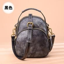 Women's bag handmade leather original bag 2020 new fog wax head layer leather shoulder messenger bag