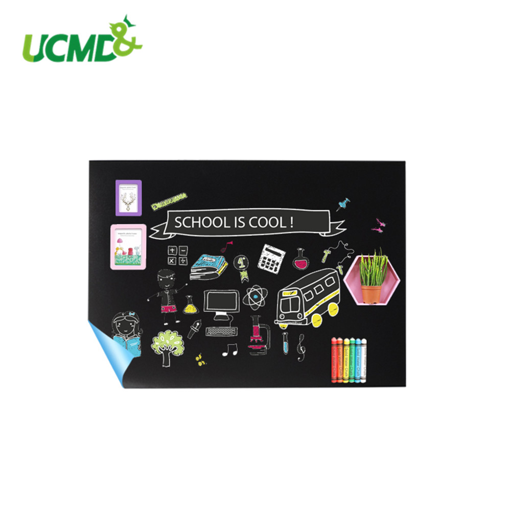 Magnetic Blackboard Sticker Self adhesive Writing Painting Graffiti Holding Magnets Chalkboard 80x50cm for kids Baby room Decor