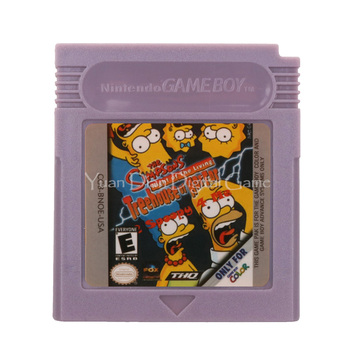 For Nintendo GBC Video Game Cartridge Console Card The Simpsons Night of the Living Treehouse of Horror English Language Version 1