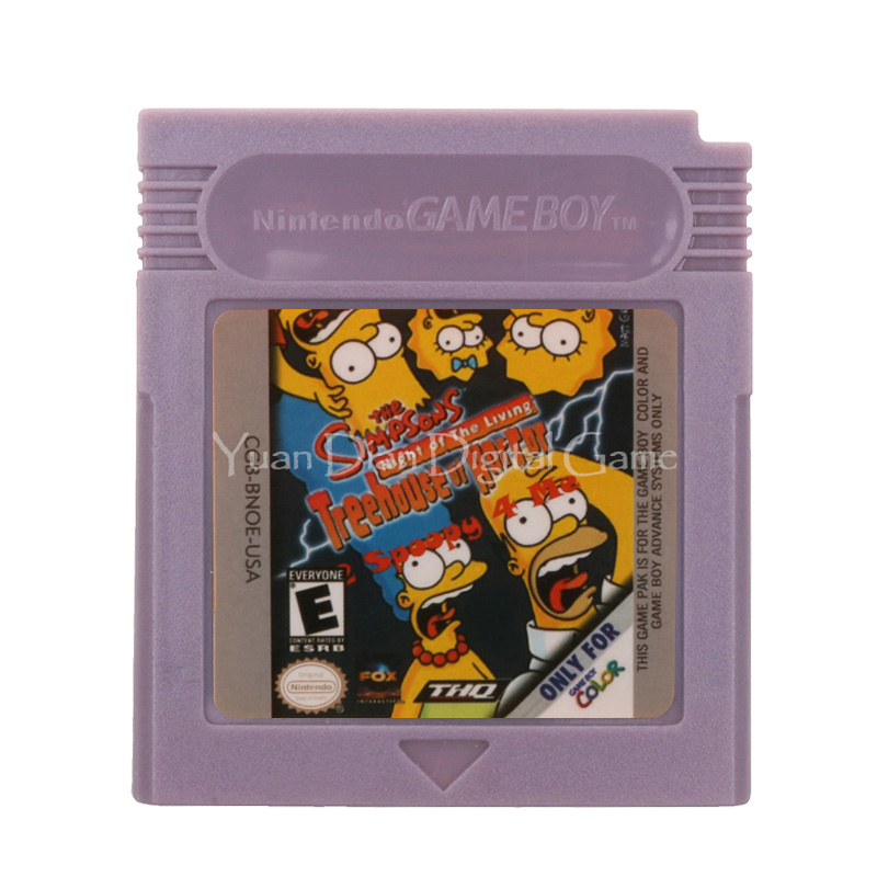 For Nintendo GBC Video Game Cartridge Console Card The Simpsons Night Of The Living Treehouse Of Horror English Language Version