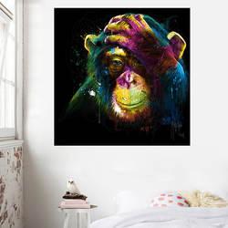 Североевропейская абстрактная декоративная живопись Внешняя торговля Масло художественное изображение гориллы Обезьяна wu kuang hua xin