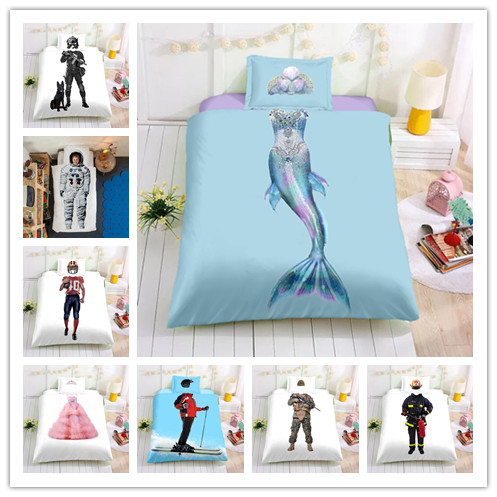 Children's dream series Printing Bedding Sets 2/3Pcs/Set Duvet Cover Set Children Bed Linen Set Soft For Girls/Boys