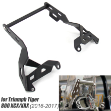 2016-2017 Motorcycle Front Phone Stand Holder Smartphone Phone  GPS Navigaton Plate Bracket FOR Triumph Tiger 800 XCX/XRX