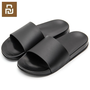 Image 1 -  Black Slippers Black and White Shoes Non slip Slides Bathroom Summer Casual Style Soft Sole Flip Flops
